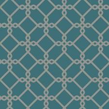 Teal/Medium Grey Geometrics Wallcovering by York