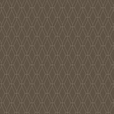Medium Brown/Silver Geometrics Wallcovering by York