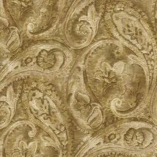 Beige/Gold/Bronze Paisley Wallcovering by York
