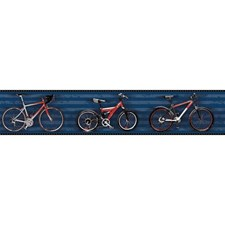 Dark Blue/Red/Grey Children Wallcovering by York