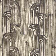 Ebony/Cream Modern Wallcovering by Groundworks