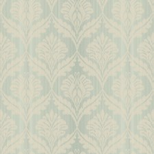 Turquoise/Cream Damask Wallcovering by York