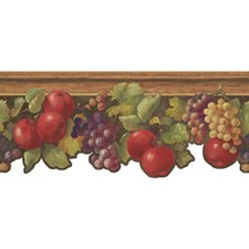 Red/Brown/Green Fruit Wallcovering by York