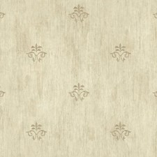 Cream/Taupe/Gold Fleur De Lis Wallcovering by York