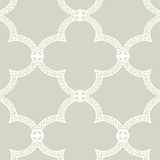 Grey/White Geometrics Wallcovering by York
