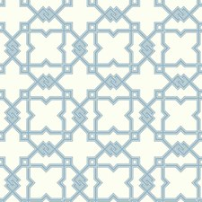 White/Light Blue/Medium Blue Geometrics Wallcovering by York