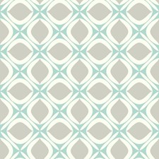 Cream/Turquoise/Light Taupe Sure Strip Wallcovering by York