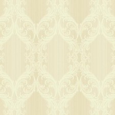 Soft Gold/Cream Stripes Wallcovering by York