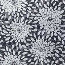 Licorice/Black Patent/Silver Frost Floral Medium Wallcovering by York