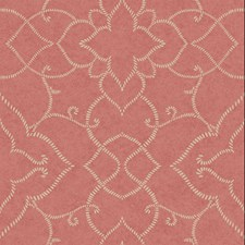 Bright Warm Coral/Platinum Pearl Metallic Sculptured Finishes Wallcovering by York
