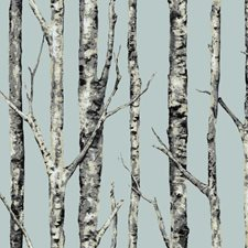 Pale Blue/Cream/White Botanical Wallcovering by York