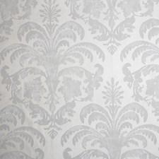 Silver/Grey/Metallic Damask Wallcovering by Kravet Wallpaper