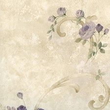 Purple Kitchen and Bath Wallcovering by Brewster