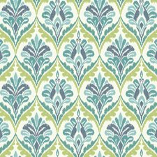 White/Aqua/Blue Geometrics Wallcovering by York