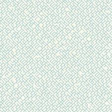 White/Aqua Chevron Wallcovering by York