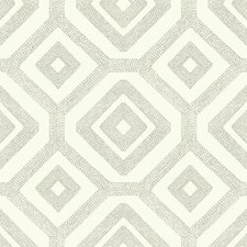 White/Grey Geometrics Wallcovering by York