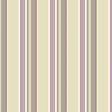 Beige/White/Purple Stripes Wallcovering by York