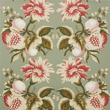 Sage/Berry Print Wallcovering by Lee Jofa Wallpaper