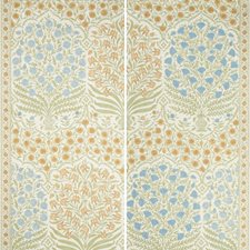 Sapphire/Gold Botanical Wallcovering by Lee Jofa Wallpaper