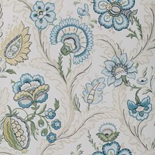 Blue/Spring Botanical Wallcovering by Lee Jofa Wallpaper