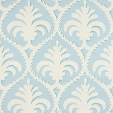 Aqua Toile Wallcovering by Brunschwig & Fils