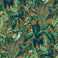 Tobacco Tropical Wallcovering by Brunschwig & Fils