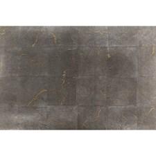 Silver Gold Metallic Wallcovering by Brunschwig & Fils