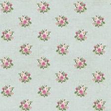 Pale Aqua/Pinks/Greens Floral Medium Wallcovering by York