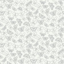 White/Grey Bugs Wallcovering by York