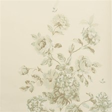 Ivory/Aqua Wallcovering by Baker Lifestyle Wallpaper