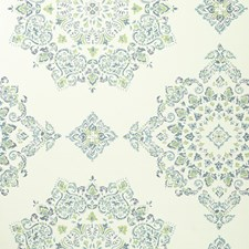 Teal/Lime Diamond Wallcovering by Baker Lifestyle Wallpaper