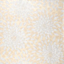 Silver Glitter On White/Beige/Cream Pearl Floral Medium Wallcovering by York