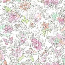 RMK11800WP Disney Princess Royal Floral by York