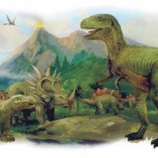 RMK3053TB Dinosaurs Giant Scene Wall Graphic by York