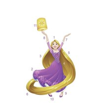 RMK3208GM Sparkling Disney Rapunzel Giant Wall Decal by York