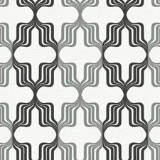 Gray Metallic/Black/White Novelty Wallcovering by York