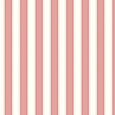 Pink/White Stripes Wallcovering by York