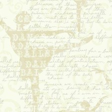 White/Beige/Pearl Traditional Wallcovering by York