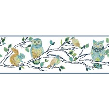 White/Blue Tan/Yellow Animals Wallcovering by York