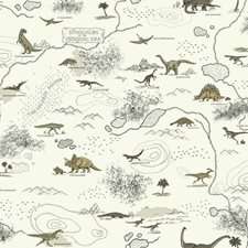 White/Tan/Black Animals Wallcovering by York