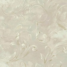 Beige/Lilac/Pale Green Scroll Wallcovering by York