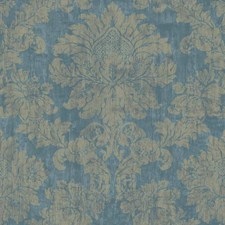 Teal/Dark Teal/Taupe Damask Wallcovering by York