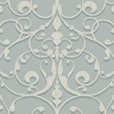 Light Blue/Medium Teal/White Traditional Wallcovering by York