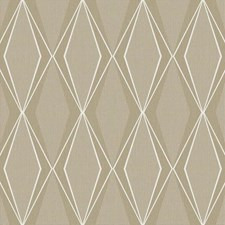Taupe/Silver/White Geometrics Wallcovering by York
