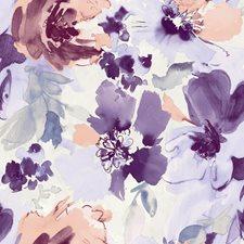White/Light Purple/Medium Purple Contemporary Wallcovering by York