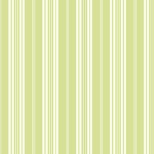 White/Green Stripes Wallcovering by York