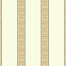 White/Gold/Black Stripes Wallcovering by York