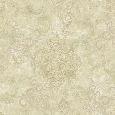 Beige/Grey/Pale Lilac Damask Wallcovering by York