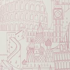 Pink Novelty Wallcovering by Clarke & Clarke