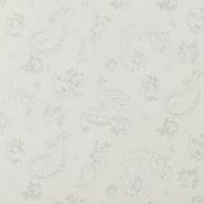 Duckegg Floral Small Wallcovering by Clarke & Clarke